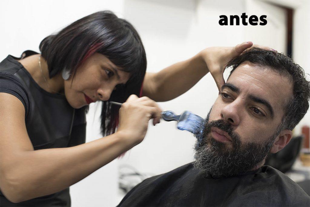 Decoloración en barba